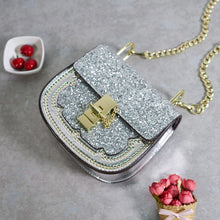 party silver sparkle handbag edgability