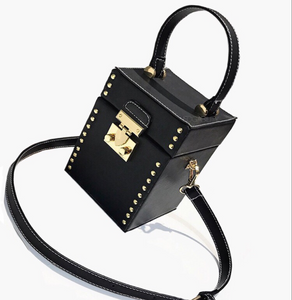 black studded bag box bag edgability