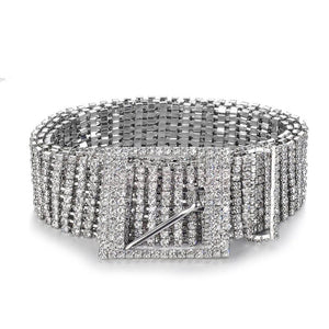 crystals belt trendy accessories edgability front view