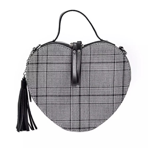 heart shaped bag checkered box bag edgability