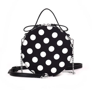 box bag round bag polka dots bag edgability