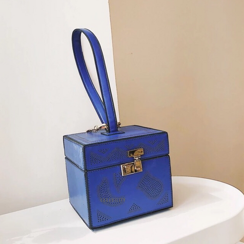 blue bag box bag vintage bag edgability