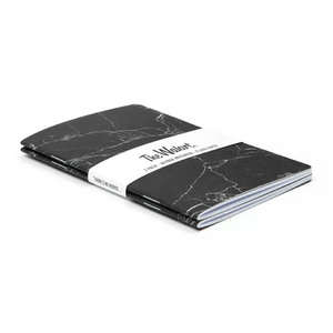 black granite marble texture print notebook angle view edgability