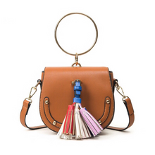studded bag brown bag with tassels edgability
