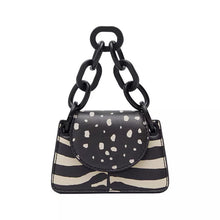 leopard zebra print boho black and white bag edgability