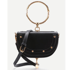 black bag studded bag party bag edgability