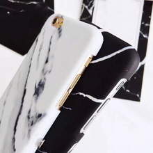 white marble black granite iphone case side view edgability