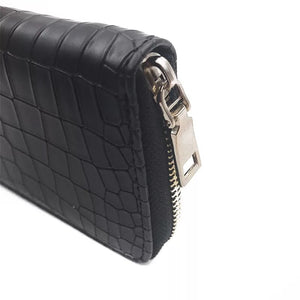 croc skin black wallet edgability detail view