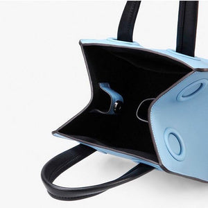blue bag bucket bag mini bag sling bag edgability inside view