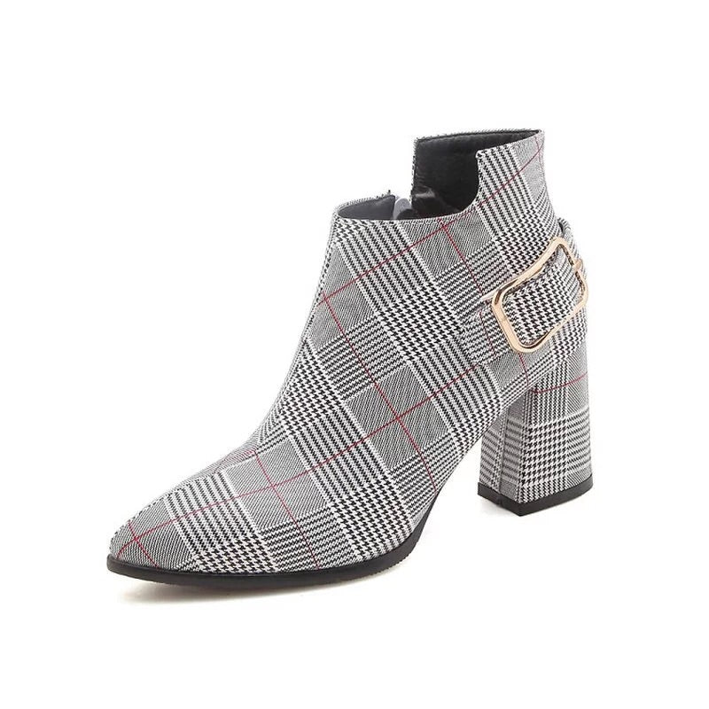ankle boots plaid boots checkered boots edgability