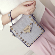 croc skin studded bag trendy bag edgability model view