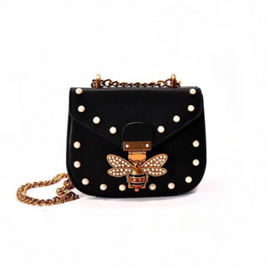 pearl studded butterfly black bag edgability