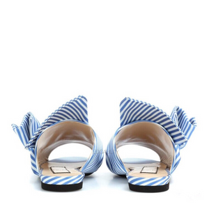 stripes blue flats with knots back view edgability