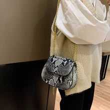 classy grey snakeskin black bag edgy fashion edgability model view