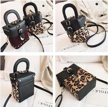 leopard bag box bag fur bag studded bag edgability angle view