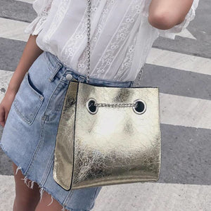 metallic bag sling bag edgy fashion edgability model view