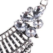 statement necklace edgability silver layered necklace detail view