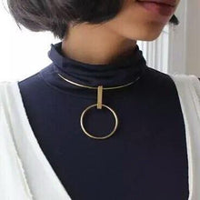 gold choker chic jewelry edgability model view