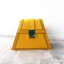 yellow bag sling bag triangle bag edgability