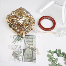 clear bag gold bag bucket bag edgability open view