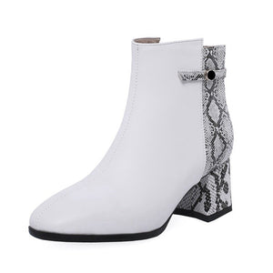 trendy boots ankle boots snakeskin boots with block heels edgability