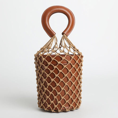 bucket bag basket drawstring bag brown bag edgability