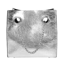 silver bag sling bag edgy fashion edgability