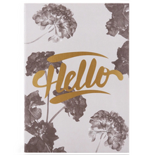 foliage shrubary print with gold foil notebook edgability