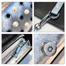 studded bag silver bag sling bag edgability detail view