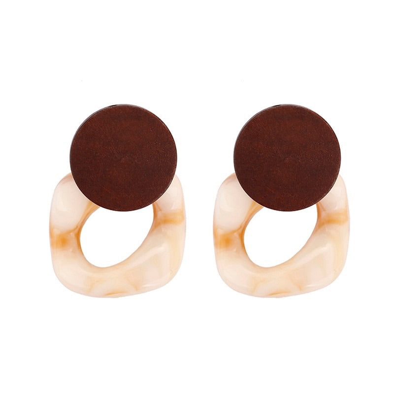marble wood earrings edgy jewelry edgability