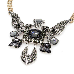 art deco jewelry statement necklace edgability top view