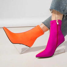 orange pink ankle boots edgy shoes edgability size view