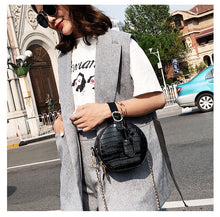black bag croc skin bag round bag box bag edgability model view