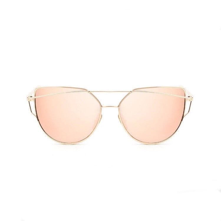 rose gold sunglasses with gold double frames edgability