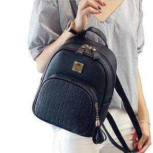 croc embossed black mini backpack edgability