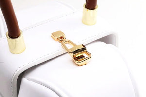 round bag white bag edgability detail side