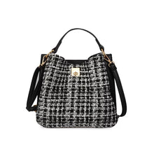 classic tweed bucket bag edgability front view