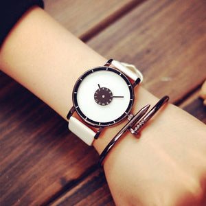 black white watch trendy watch edgability model view