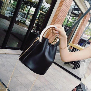 black bag bucket bag luxury bag wristlet edgability size view
