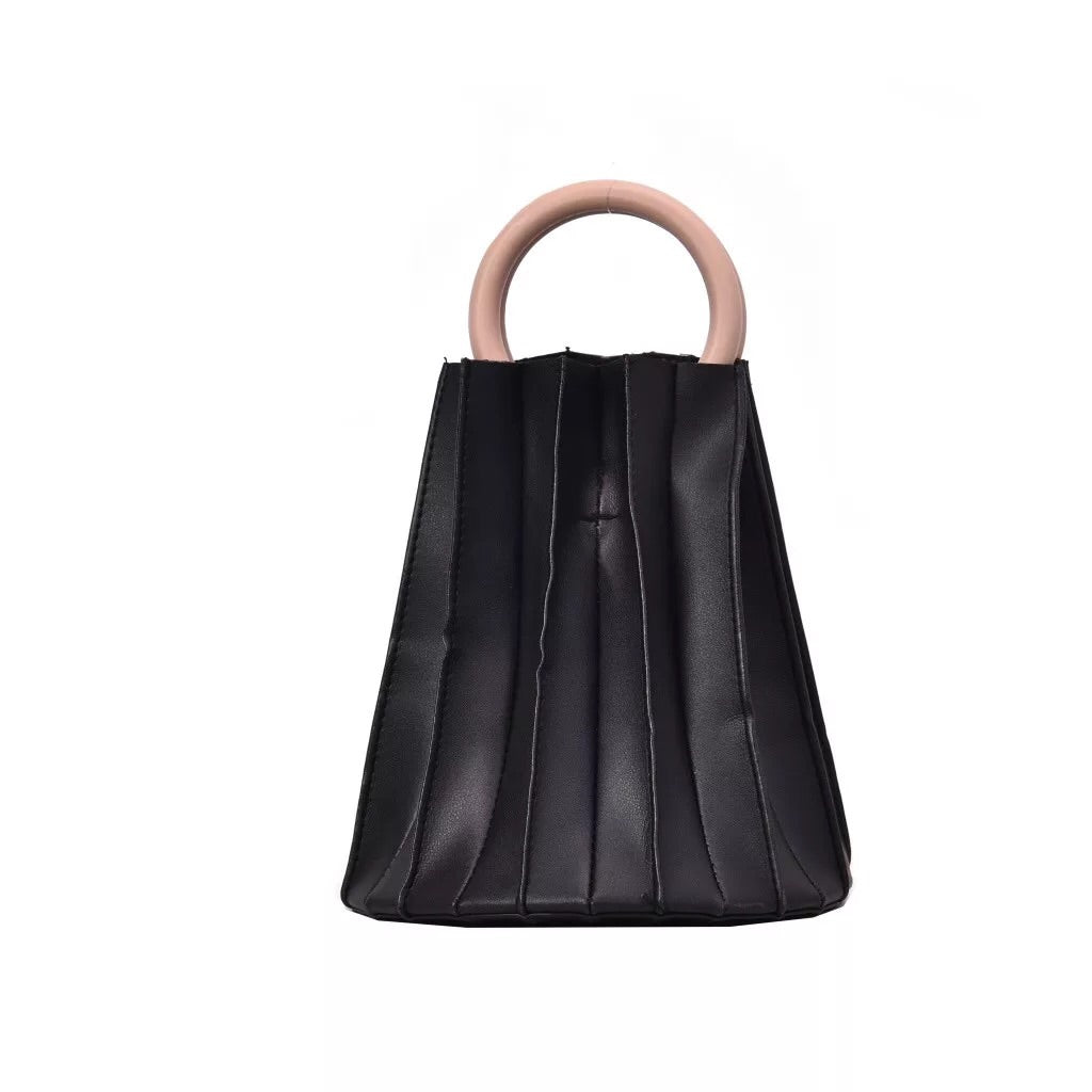 pleated bucket bag black bag edgability