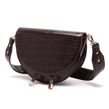 classy croc skin envelope brown bag sling bag edgability side view