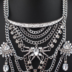 layered necklace statement necklace silver jewellery edgability top view