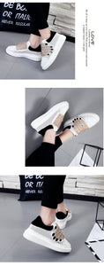 quirky embroidered white sneakers with crystals edgability side view