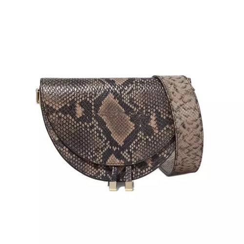 brown grey snakeskin sling bag edgability