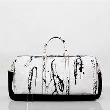 marble white travel bag edgability angle view