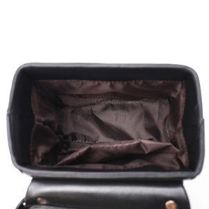 black box bag with buckle egdability inside view