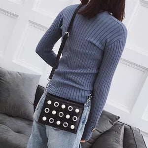 studded bag black bag sling bag edgability model view
