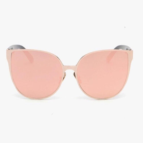rose gold sunglasses reflective sunglasses edgability