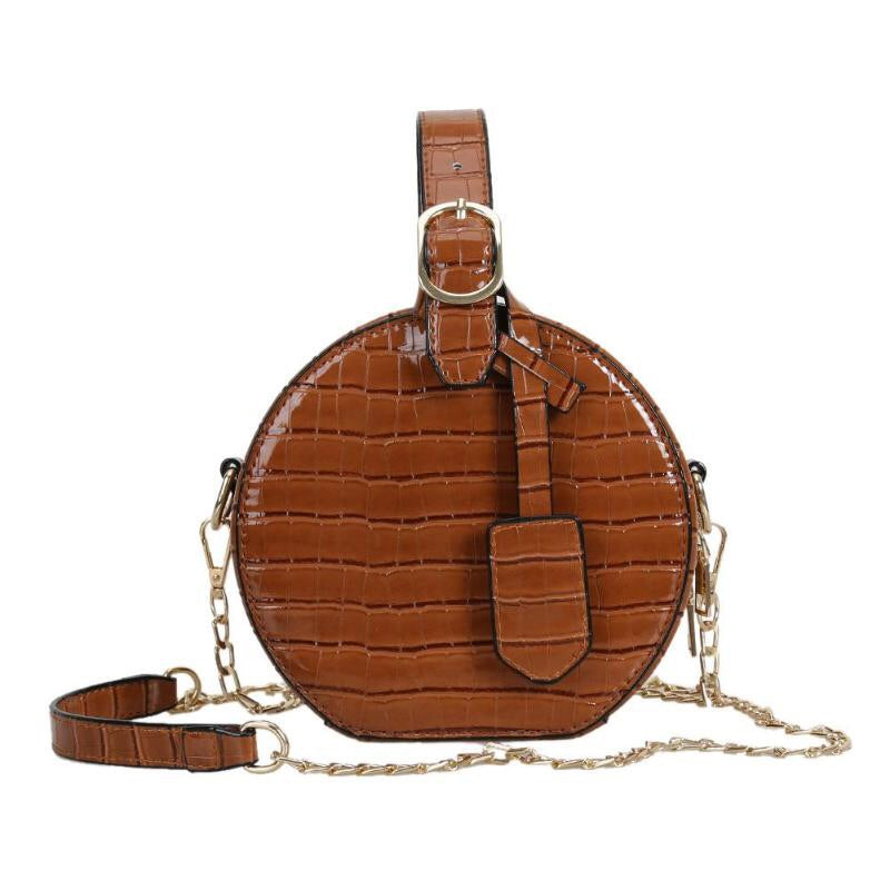 brown bag croc skin bag box bag round bag edgability
