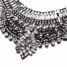 silver necklace layered statement jewelry edgability detail view